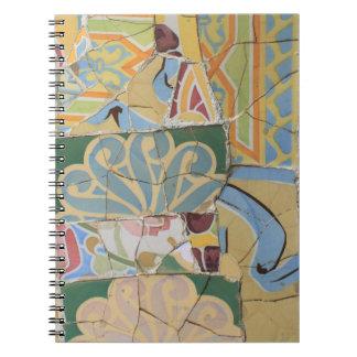 De decoratie van het mozaïek notitieboek
