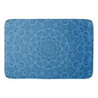 De decoratieve Blauwe Vintage Badmatten van de