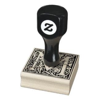 De decoratieve Brief M van het Monogram Rubberenstempel