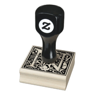 De decoratieve Brief N van het Monogram Rubberenstempel