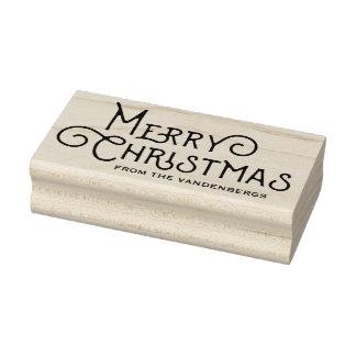De decoratieve Zegel van de Kunst van Kerstmis van Rubberenstempel