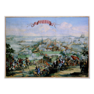 De Deense Verovering van Kristianstadt 1675 Poster