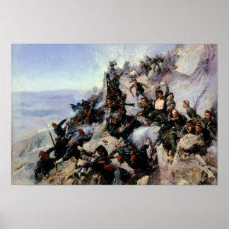 De defensie van het Arendsnest van Eagle Poster