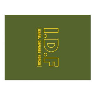 De Defensie van IDF Israël dwingt 3 - ENG - Briefkaart