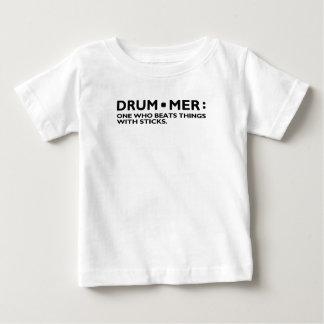 De definitie van een Trommel van de Muziek van de Baby T Shirts