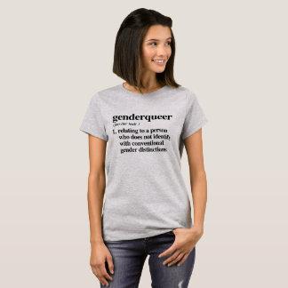 De Definitie van Genderqueer - Bepaalde Lgbtq- T Shirt