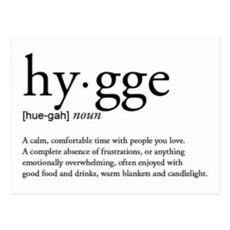 De Definitie van Hygge Briefkaart