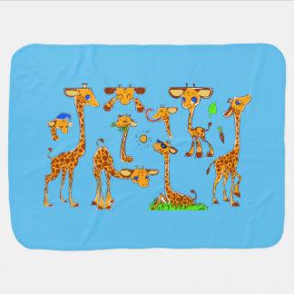 De Deken van de Giraf van de Jongen van de douane Baby Dekens