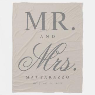 De deken van de het huwelijksverjaardag van M. en
