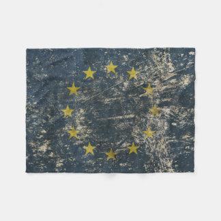 De Deken van de vacht met vlag van de EU