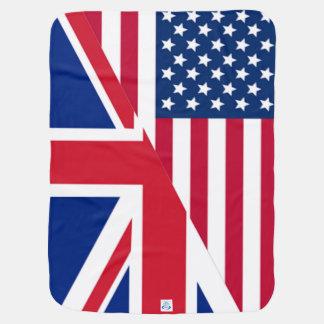 De Deken van het Baby van Amerikaan en van de Vlag Inbakerdoek