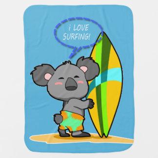 De Deken van het Baby van de Koala van de branding Inbakerdoek