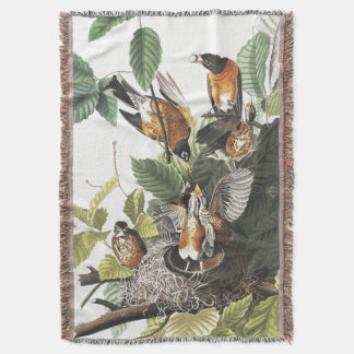 De Deken van Robin Birds Wildlife Animal Throw van
