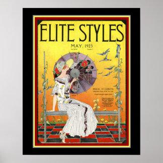 De Dekking Mei 1923 van het Art deco van de Poster