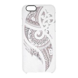 De dekking van de het ontwerptelefoon van Maori Doorzichtig iPhone 6/6S Hoesje