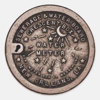 De Dekking van de Meter van het Water van New Ronde Sticker