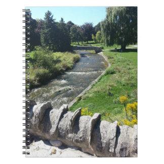 De Dekking van het Notitieboekje van de stroom Notitieboek