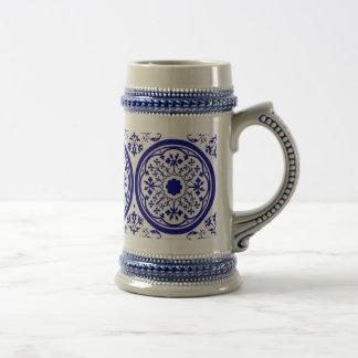 De Delft Geïnspireerde Stenen bierkroes van de Bierpul