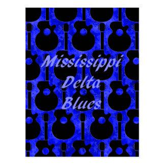 De DeltaBlauw van de Mississippi Briefkaart