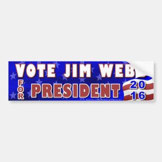 De Democraat van de Verkiezing van Jim Webb Bumpersticker