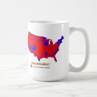 De democraten zijn de Lage Kiezers van de Koffiemok