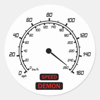 De Demon van de snelheid Ronde Sticker