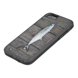 De deskundige rustieke houten vissen van de Visser Tough Xtreme iPhone 6 Hoesje