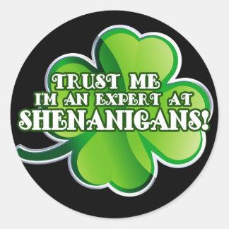 De Deskundige Stickers van Shenanigan