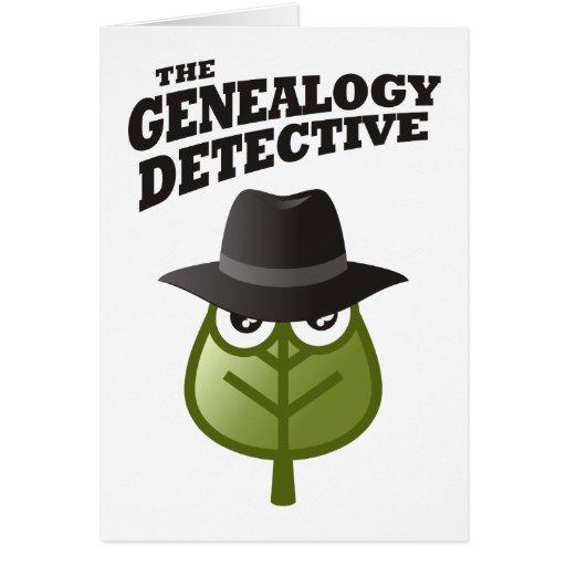 De detective van de Genealogie Wenskaarten