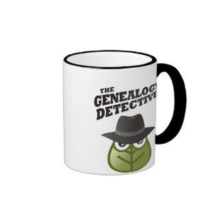 De detective van de Genealogie Mok Gekleurder Rand En Oor
