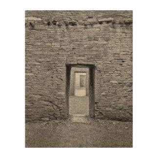 De Deuropening van Bonita van Pueblo Hout Afdruk