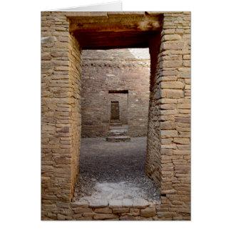 De deuropening van de Canion van Chaco Kaart