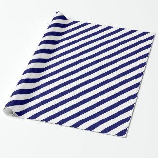 De Diagonale Streep van de marine Inpakpapier
