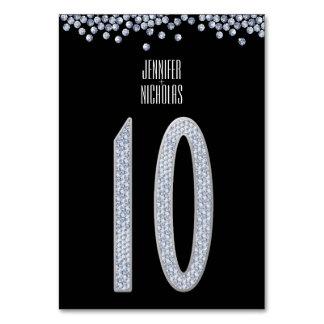 De diamant schittert de Lijst Nummer Tien van de Kaart