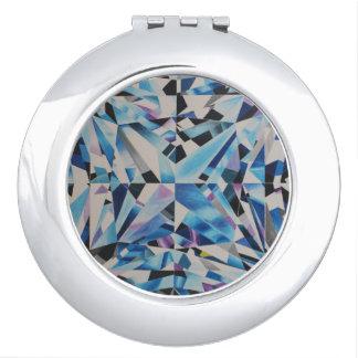 De Diamant van het glas om Compacte Spiegel Makeup Spiegels