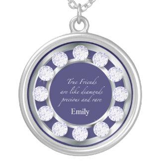 De Diamanten van de vriendschap Ketting Rond Hangertje