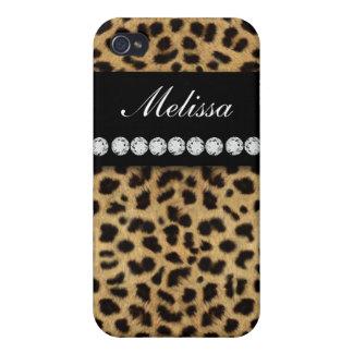 De Diamanten van het Bont van de jachtluipaard noe iPhone 4 Cover