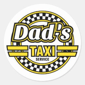 De Dienst van de Taxi van de papa - Grappige Ronde Sticker