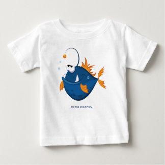 De diepe OceaanVissen van de Visser Baby T Shirts