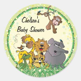 De Dieren van het Baby van het Oerwoud van de Ronde Sticker
