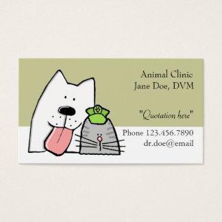 De dierenarts, de Zorg van het Huisdier Pro, past Visitekaartjes
