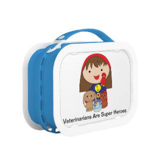 De dierenartsen zijn Super Helden Lunchbox