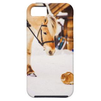De dierenpaard en konijn van het boerderij tough iPhone 5 hoesje