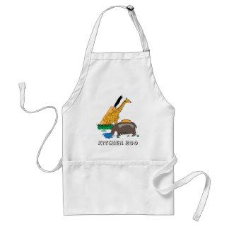 De Dierentuin van de keuken (Giraf en Nijlpaard) Standaard Schort