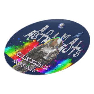 De Dierlijke Astronaut van de Geit van de melkweg Melamine+bord