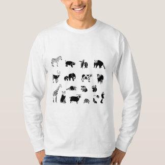 De dierlijke Collage van het Zoogdier T Shirt