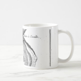 De Dierlijke Druk van de vintage Oester Koffiemok