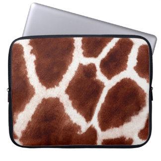 De Dierlijke Druk van het Patroon van de giraf Laptop Sleeve