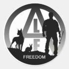 De dierlijke Stickers van de Vrijheid van de