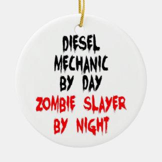 De diesel Mechanische Moordenaar van de Zombie Rond Keramisch Ornament